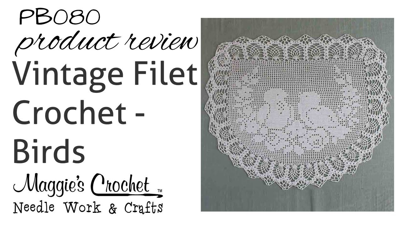 Vintage filet crochet pattern chair back oval doily birds roses vintage filet crochet pattern chair back oval doily birds roses pb080 youtube ccuart Gallery