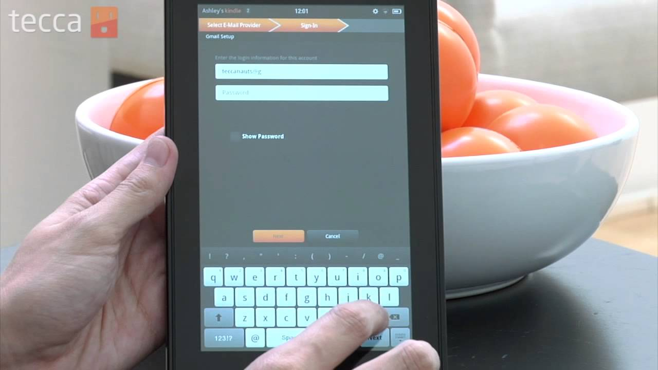 Kindle Vs Sony Reader: Just Show Me: How To Set Up Email On Your Kindle Fire