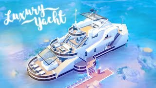 Luxury Yacht ⛵️ 🍹 | The Sims 4 Island Living | Speed Build | CC Free + Download Links