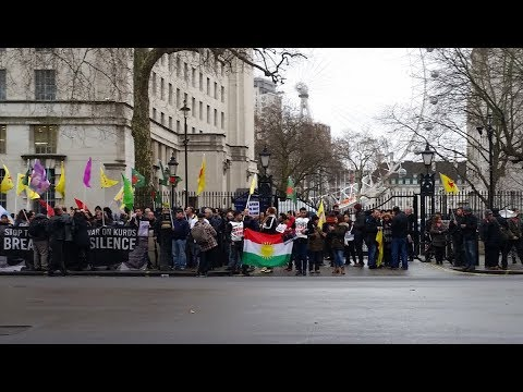 "Protest Against UK Complicity In ""Genocidal Fascist Invasion"" of Northern Syria"