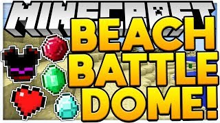 SANDY BEACH MODDED SANDY BATTLEDOME OP WEAPONS - MINECRAFT 1.12.2 MODDED BATTLEDOME