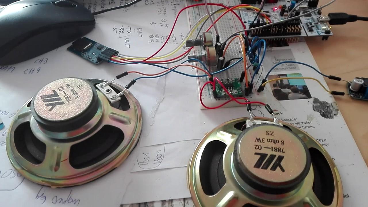 Odtwarzacz WAV na STM32 - stereo