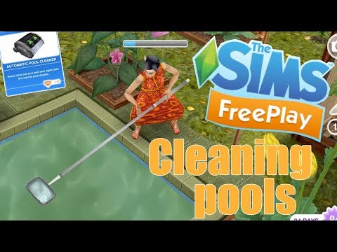 Sims Freeplay   How to clean pools & automatic pool cleaner