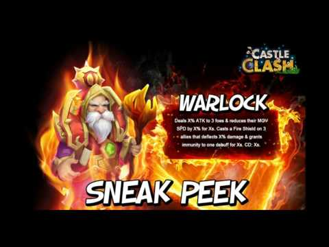 Castle Clash New Hero Sneak Peek Warlock!