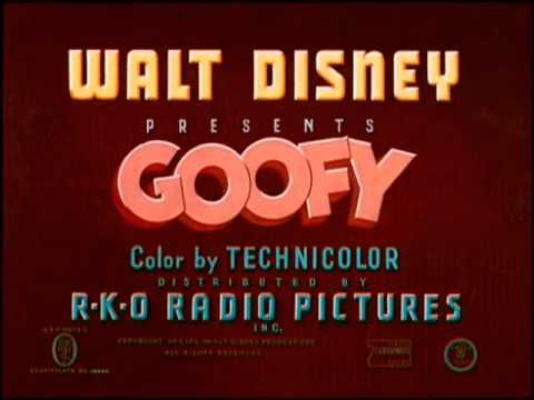 "Goofy - ""Home Made Home"" - recreation titles with RKO Radio Pictures logo"