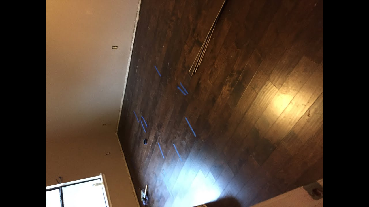 Prep Floors And Install Engineered Hardwood Flooring Glue Down You