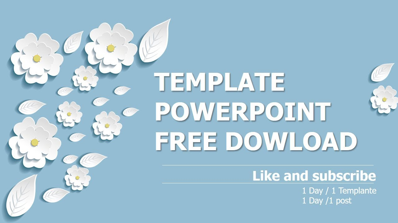 Three Dimensional Flowers Template Powerpoint Free Download Youtube
