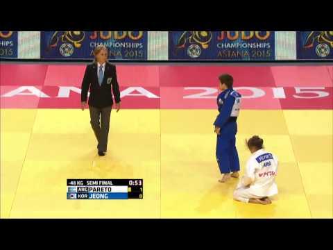 Paula Pareto vs Bo Kyeong Jeong World Judo Championships 2015 - Astana