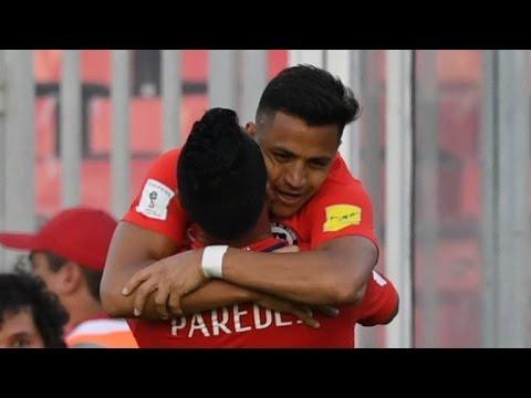 Chile 3 - 1 Venezuela [Clasificatorias Rusia 2018] (Relato Ernesto diaz Correa - Radio Cooperativa)