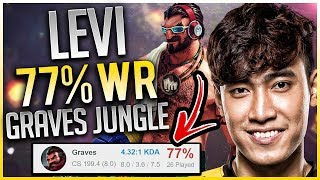 LEVI 77% Win Rate Graves Jungle S8 (4.23 KDA)