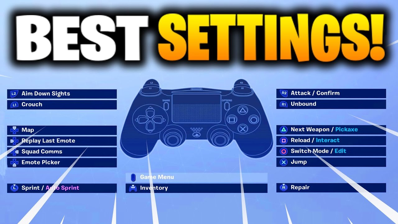 😍 Best keybinds for fortnite battle royale ps4 | FortSettings  2019