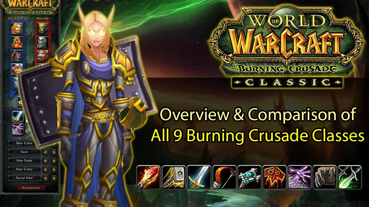 Wow Tbc Classic Class Comparison What Class To Pick In Tbc Overview Ranking Youtube