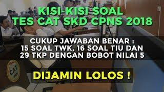 Kisi - Kisi Soal Tes CAT SKD CPNS 2018 | Passing Grade Untuk Lolos