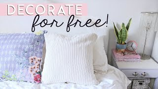 Decorate For Free Or On A Really Tight Budget | Easy Diy Decor & Tips