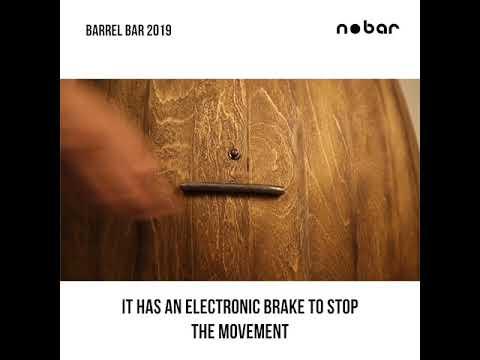 Download Home Bar Furniture- Barrel Bar   Lifestyle & Interior Decor   nobar - Automated Home Bar Cabinets