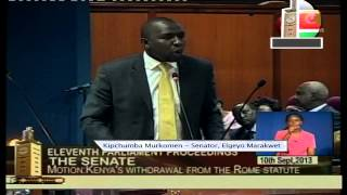 Senate Passes Motion Seeking To Pull Kenya Out Of the Rome Statute