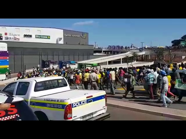 ANCYL protesters reach Ballito Junction parking lot