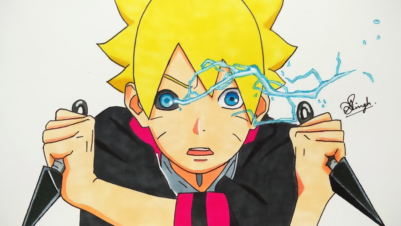 Drawing Boruto New Eye Power Boruto Next Generation Youtube
