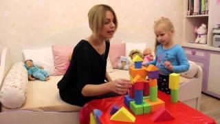 Уроки английского для малышей. Строим замок! Учим названия цветов.