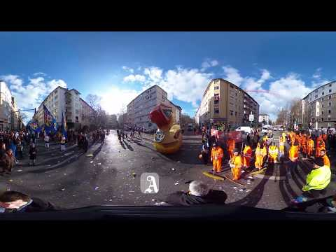 Der Rosenmontag in Mainz in 360 Grad