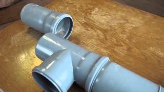 Простой пример замены канализационного стояка(В видео показывается как правильно отрезать вставляемую часть. Предыдущее видео - https://youtu.be/NqmLPzGxdxE., 2016-02-23T19:37:24.000Z)