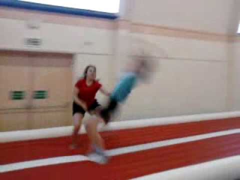roundoff 4 flicks with spotter