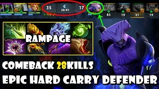 [Faceless Void] EPIC Comeback 28Kills Hard Carry Defender + Rampage Highlights Dota 2 7.20e