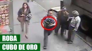 Hombre Roba Cubo de Oro ($1.6 Millones) de un Camion Blindado sin Vigilancia