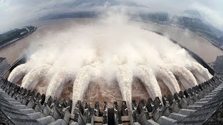 The largest emergency water discharge from dams 💦🌊💧
