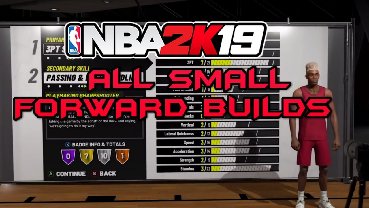 NBA 2K19 ALL SMALL FORWARD BUILDS - BADGES AND ATTRIBUTES