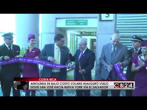 Aerolínea Volaris inaugura ruta desde Costa Rica a Nueva York