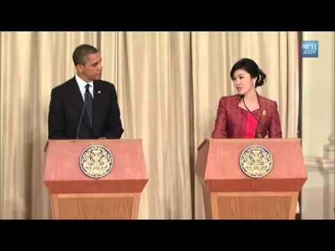 WorldLeadersTV President Obama &  PM Shinawatra THAILAND Press Conference