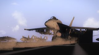 Arma 3 in 4k(HD) F/A-18 Carrier Ops Cinematic (Test Footage)