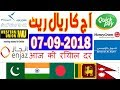 Today Saudi Riyal Currency Exchange Rates - 07-09-2018 | Tahweel al Rajhi | Enjaz | Fawri | NCB
