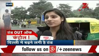 People enjoying cold winds in Delhi