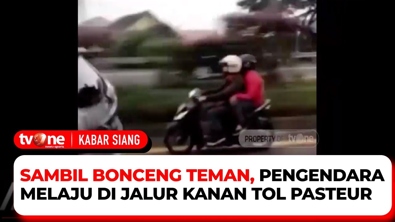Download Mau Ke Mana Coyy! Pengendara Motor Terobos Jalan Tol   Kabar Siang tvOne