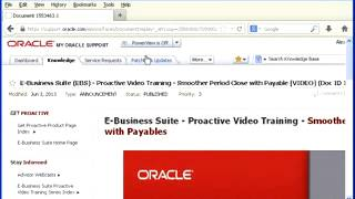 Understanding the Get Proactive functionality - An example with Oracle Financials