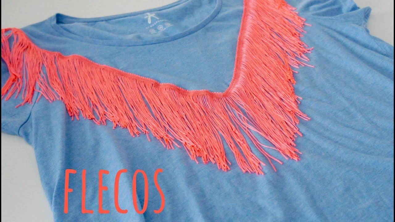 4e8884c8f3bb9 Tutorial DIY para decorar con flecos una camiseta. Mes de la camiseta