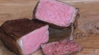 """Dryaged Roastbeef Steak Sous Vide und O.F.B.  """" 195"""""""