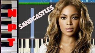 Beyonce - Sandcastles - Piano Tutorial - Instrumental Piano Only