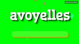 avoyelles how to pronounce it