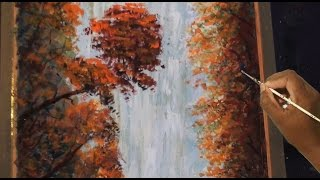 How to draw , Most Beautiful Waterfalls  - acrylic & watercolor