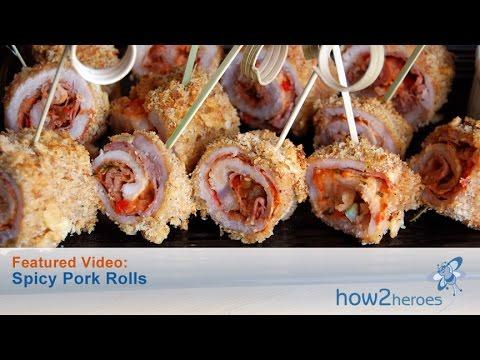 Spicy Pork Rolls
