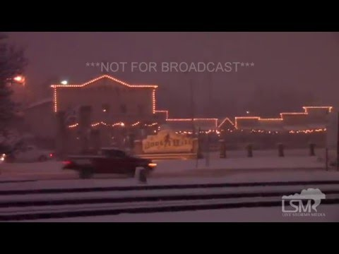 12-13-15 Dodge City, Kansas Slick Roads  - Winter Storm