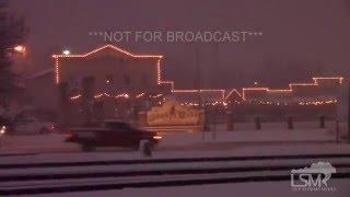 12-13-15 Dodge City, Kansas Slick Roads  - Winter Storm
