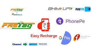 ICICI FASTag Recharge using BHIM UPI , Google Pay, PhonePe, PayTM and e-Toll App By ICICI Bank