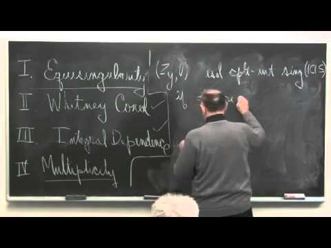 "Steven Kleiman - ""Equisingularity of germs of isolated singularities"""