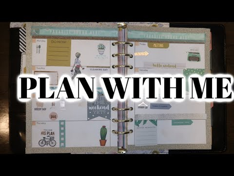 PLAN WITH ME : My Very First Planning Video / Agenda 52