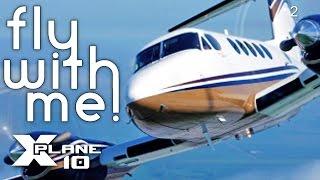 X-Plane 10 #2 - B200 to Nashville