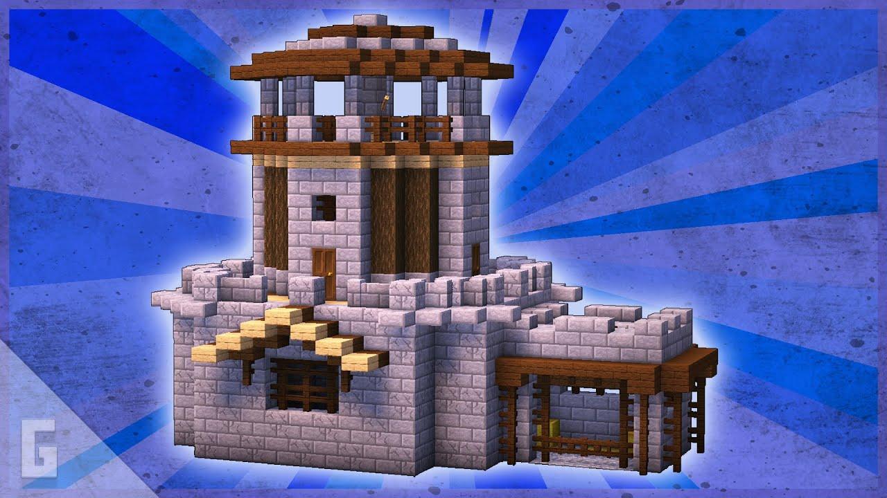 Castle Tower Build Tutorial! (Minecraft)